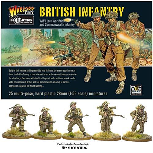 WGB-BI-01 - Kriegsherr Spiele - Repetierbock 2 - Weltkrieg Britische Infanterie x 25 Wargaming Miniaturen 28mm
