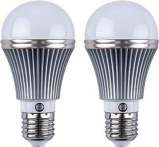 2Pcs E27 3000K LED Dusk to Dawn Sensor Light Bulbs Built-in Photosensor Detection Auto