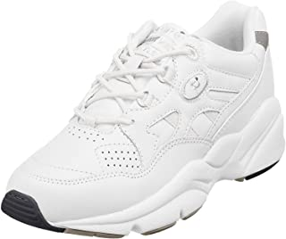 Propet Men's Stability Walker Sneaker, White, 15 5E US