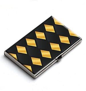 Heartzy Golden Diamonds Metal Business Card Holder