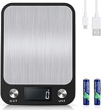 Diyife 10kg/1g Balance Cuisine [USB Rechargeable & Batterie Disponible], Balance Electronique Numérique en Acier Inoxydabl...
