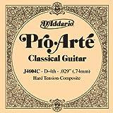 D'Addario J4604C Pro-Arte, cuerda individual de nailon para guitarra clásica, tensión dura, cuarta cuerda