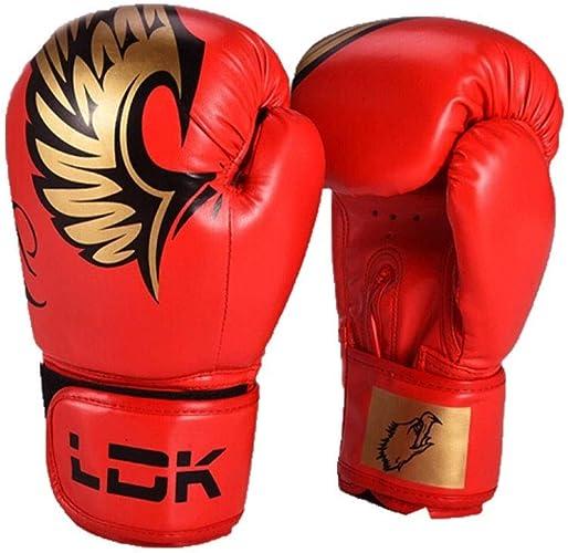 KUQIQI Gants de Boxe, Combats for Enfants Sanda de Boxe for Adultes, Ensemble de matériel d'entraîneHommest for la compétition de Taekwondo for Hommes et Femmes, de Haute qualité Gants de Boxe de Sport,