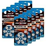 ANSMANN Hörgerätebatterien 675 blau 60 Stück - Zink Luft Hörgeräte Batterien Typ 675 P675 ZL1...
