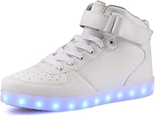 Topcloud High Top Flashing USB Charging LED Lights up Women's Men's Kid's Sport Shoes Sneakers for Christmas Halloween
