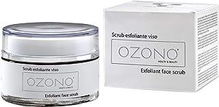 OZONO H&B Scrub Viso Professionale - Olio Ozonizzato, Granuli di Mandorlo - Estratti Naturali - Antibatterico - Azione Esf...