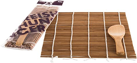 Obento Sushi Kit 540g Nori Rollen zum Selbermachen mit Bambus Matte und Instruktionen