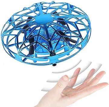 JCT Dron para Niños Mini Drone UFO Flying Ball para Niños de 4-10 Nños Juguetes Voladores Controlados A Mano, Bola De Helicóptero Rotación de 360 ° y ...