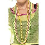 Fluoreszierende Perlen 4 Stränge, One Size