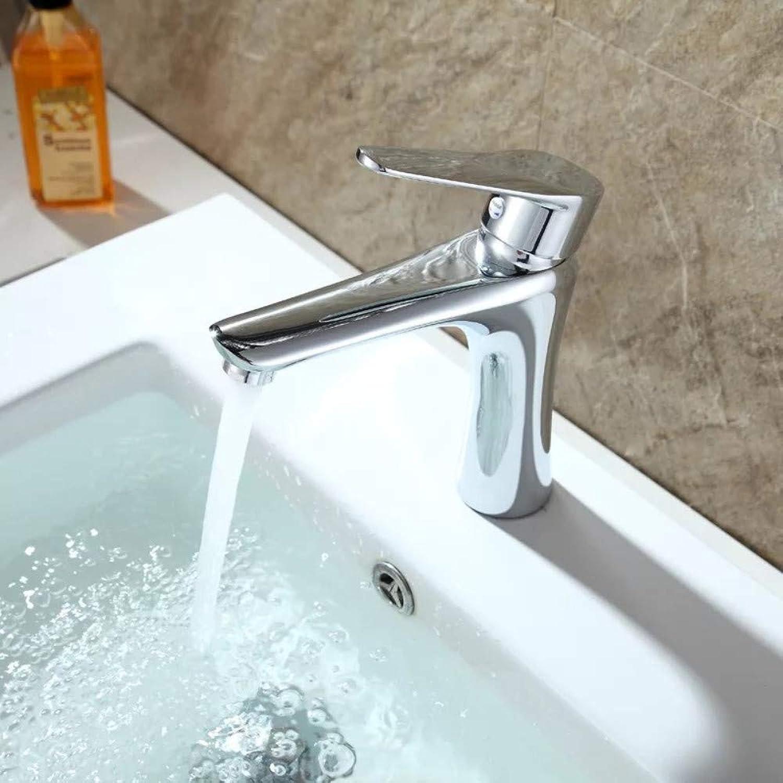 Floungey Kitchen Bathroom Sink Taps faucet Hot And Cold Wash Basin Sink Bathroom Basin Faucet Basin Washroom Copper Drop Single Hole