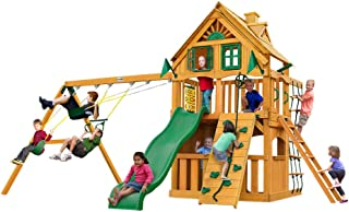 Gorilla Playsets Chateau Clubhouse Treehouse Swing Set w/Natural Cedar