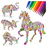 5 6 7 8 Year Old Girl Kid Birthday Gift, Art Supplies Painting Toy Kit for Toddler Boys Girls Age 4-12 Kids Art and Craft Toy Educational 3D Painting Coloring Puzzle Set for Girl Child Age 6-10
