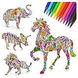 5 6 7 8 Años De Edad, Regalo De Cumpleaños Para Niños, Suministros De Arte, Juego De Juguetes De Pintura Para Niños Pequeños Niñas De 4 a 12 Juego Educativo En 3D Colorear, Rompecabezas 6 a 10 Años