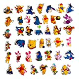 Cartoon Show Winnie The Pooh Themed 40 Piece Sticker Decal Set for Kids Adults - Laptop Motorcycle Skateboard Decals