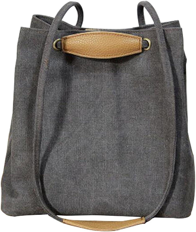 Simple Canvas Shoulder Handbag Fashion Backpack A7