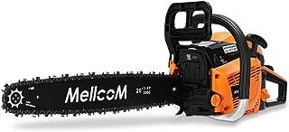 MELLCOM 62CC 2-Cycle Gas Powered Chainsaw, 20-Inch 2 Stroke Handed Petrol Chain Saw for Farm, Garden and Ranch,Cutting Woo...