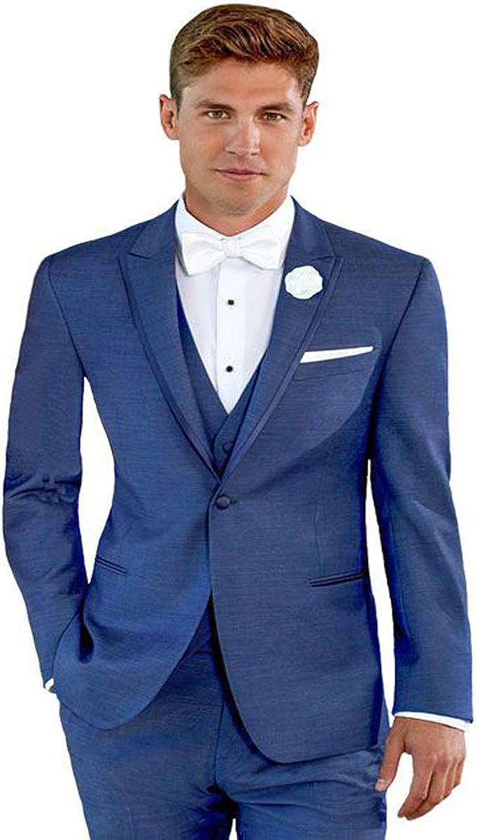 Ike Behar Dusk Blue Peak Lapel Tuxedo