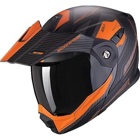 Scorpion Motorradhelm Adx 1 Tucson Matt Black Orange Schwarz Orange Xl Auto