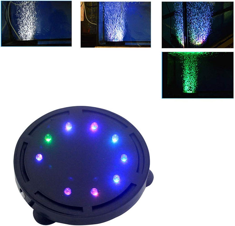 colorful Aquarium Lights Round Aeration Bubble Lamp Aquarium Landscaping Decoration,105mm