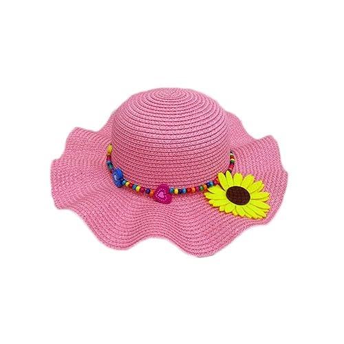 0e3708b38ac3 Leisial Enfants Capeline Chapeau de Paille Anti-Soleil Respirant Anti UV  pour Les Filles été