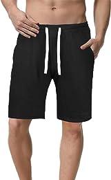 Short de Sport Homme Coton Casual Shorts Pant Cour
