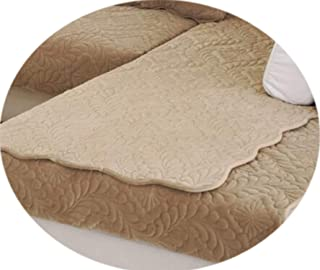 1pcs Sofa Cover Solid Color Plush Couch Cover Seat Cushion Europe Style Leather Sofa L Corner Non-Slip Sofa Towel,B,45x45cm Pillowcase