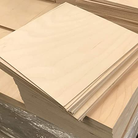 Perfect for CNC /& Laser Cutting Cherokee Wood Products 1//8 x 12 x 24 Prefinished Maple Plywood 10
