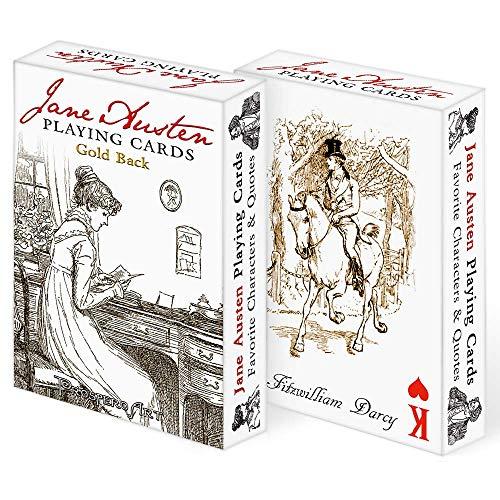 Prospero Art Jane Austen Playing Cards - Gold Back Deck