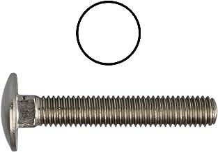 Slotschroeven M8 X 100 DIN 603 roestvrij staal A2 (20 stuks) - V2A platte bouten met vierkante hals en volledige schroefdraad