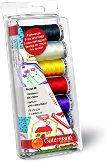 Gutermann Thread Set: Machine Embroidery Rayon 40 - Classic