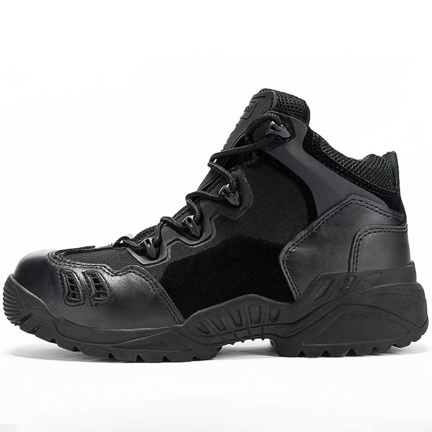 政策政策ライラックメンズ屋外ハイキングシューズ軽量通気性ウォーキングシューズ戦術的な靴高防水耐衝撃性屋外キャンプウォーキングシューズ(38-44ヤード)オプション