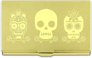 ACME Studios 3 Skulls Etched Business Card Case by Fride Kahlo (C2FK06BC)