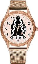Men Watches Business Quartz Watch Man Fashion Waterproof Luminous Calendar Wristwatches Male Clock Rose Gold Christmas for Men Bride of Frankenstein Wrist Watch