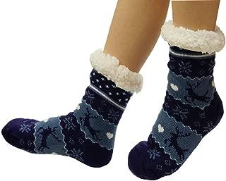 Women's Winter Warm Cozy Fuzzy Fleece Slipper Socks Christmas Gift