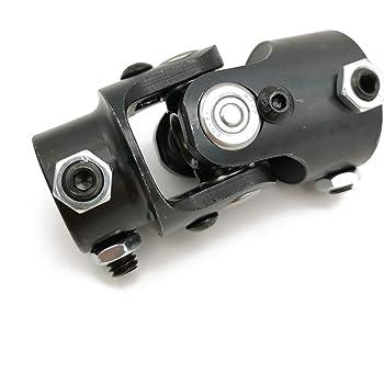 ZM Auto Parts 3//4DD X 3//4 Round Powder Coated Universal Steering Shaft U Joint U-Joint Matt Black