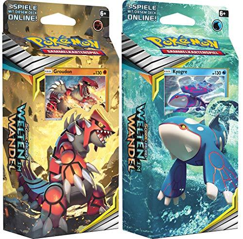 Unbekannt Pokemon SM12 - Welten im Wandel - Themendecks - Beide Decks 1x Groudon & 1x Kyogre - Deutsch