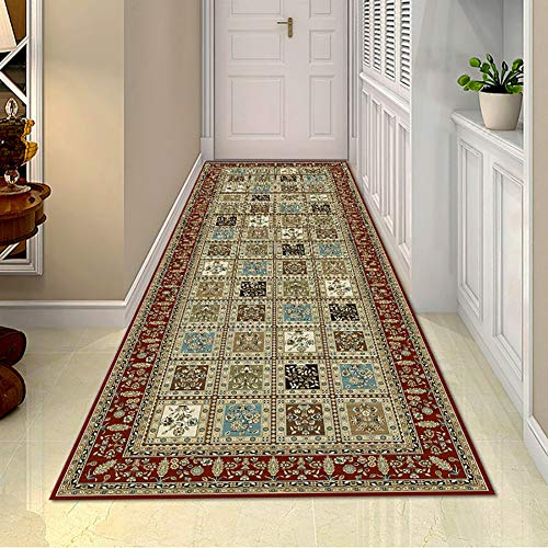 MYL Vintage Patchwork Entrance Runner Rugs - Traditional Oriental Carpet Runners for Hallway/Entryway/Kitchen, 60cm/80cm/100cm/120cm/140cm Wide (Size : 60×150cm(1.9×4.9ft))