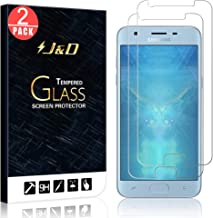 J&D Compatible for 2-Pack Galaxy J3 2018/J3 V 3rd Gen/J3 Achieve/J3 Star/Amp Prime 3 Glass Screen Protector, [Tempered Glass] Glass Screen Protector for Samsung Galaxy J3 2018 Screen Protector