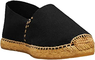 DIEGOS Women's Men's Espadrilles. Hand Made in Spain. (EU 40, Black/Jute Thread)