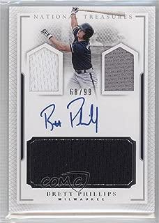 Brett Phillips #68/99 (Baseball Card) 2016 Panini National Treasures - Player's Collection Signatures #PCS-BP