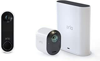 Arlo Ultra – 4K UHD Wire-Free Security Camera | Indoor/Outdoor Security Camera with Color Night Vision, 180 Field of View,...