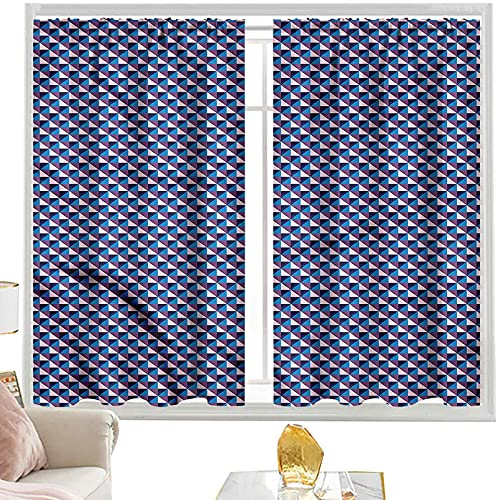 Cortinas térmicas Modernas, patrón a cuadros diagonales W52 x L63 pulgadas cutainsforlivingroom
