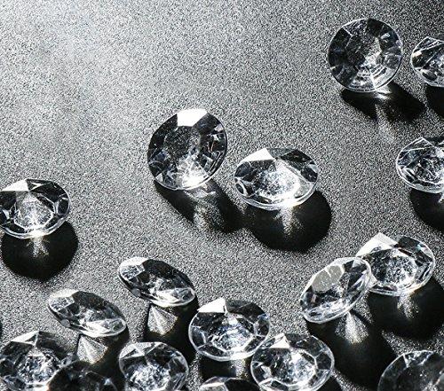 Absofine Deko Diamanten 12mm 2000Stk Farblos Funkelnde Diamantkristalle Streudeko Deko Steine Kristalle Diamanten