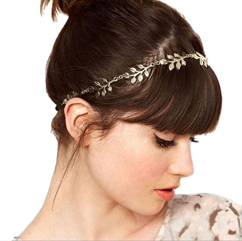 LittleB Fashion Headbands Gold Leaves Head Accessories for Women and Girls.