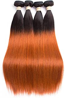 WIGM Straight black rooted dark blonde brown real human hair bundles22inch Human Hair Wigs Brazilian Black Lace Front Wig with Baby Hair 150% Density Glueless Wigs for Women Real Human Hair Natu