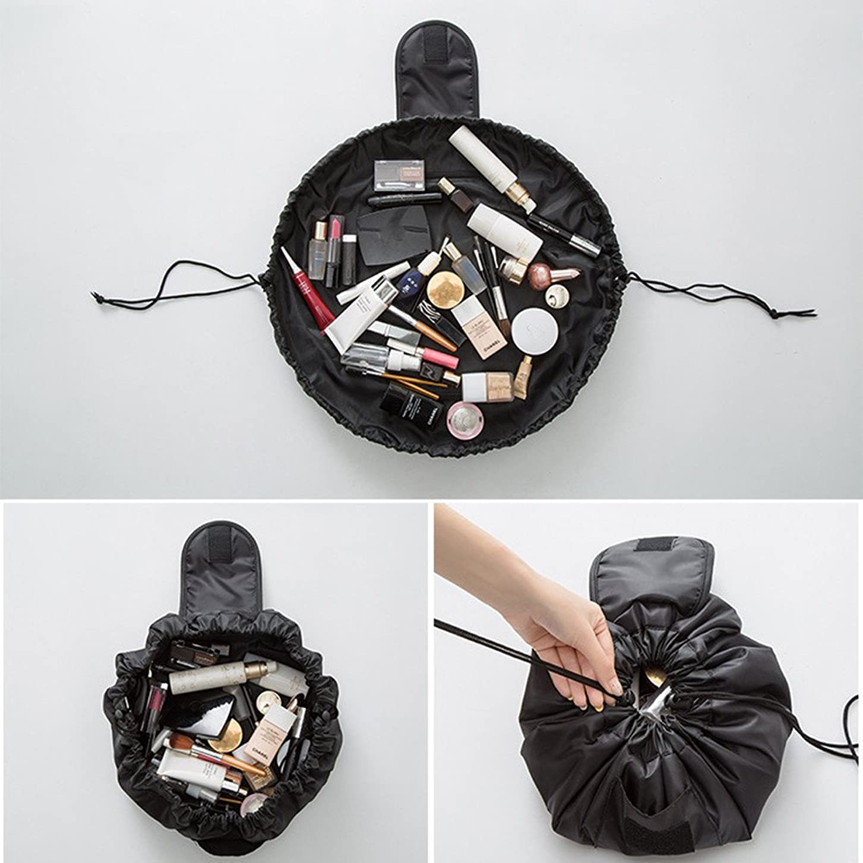 シャー狼技術者旅行メイクバッグ YOKINO 旅行化粧バッグ メイク収納バッグ 化粧ポーチ 大容量 巾着 マジックふろしきポーチ 風