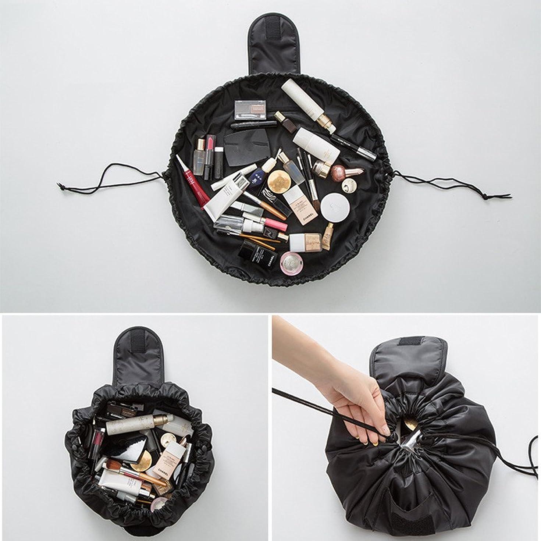 思想司書戦闘旅行メイクバッグ YOKINO 旅行化粧バッグ メイク収納バッグ 化粧ポーチ 大容量 巾着 マジックふろしきポーチ 風