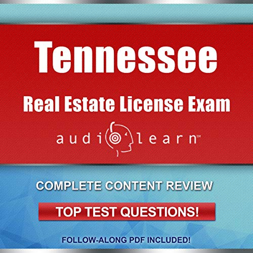 Tennessee Real Estate License Exam AudioLearn audiobook cover art
