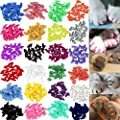 VICTHY 140pcs Cat Nail Caps, Colorful Pet Cat Soft Claws…