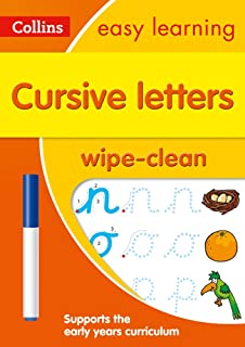 Cursive Letters Age 3-5 Wipe Clean Activity Book: Ideal for Home Learning